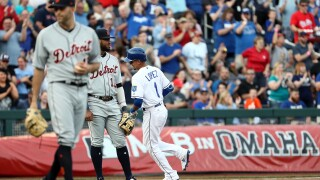 Nicky Lopez HR helps Royals beat Tigers in first MLB game in Omaha