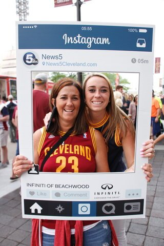 Cleveland fans show their true colors at The Q as the Cavs face the Warriors in the 2017 NBA Finals