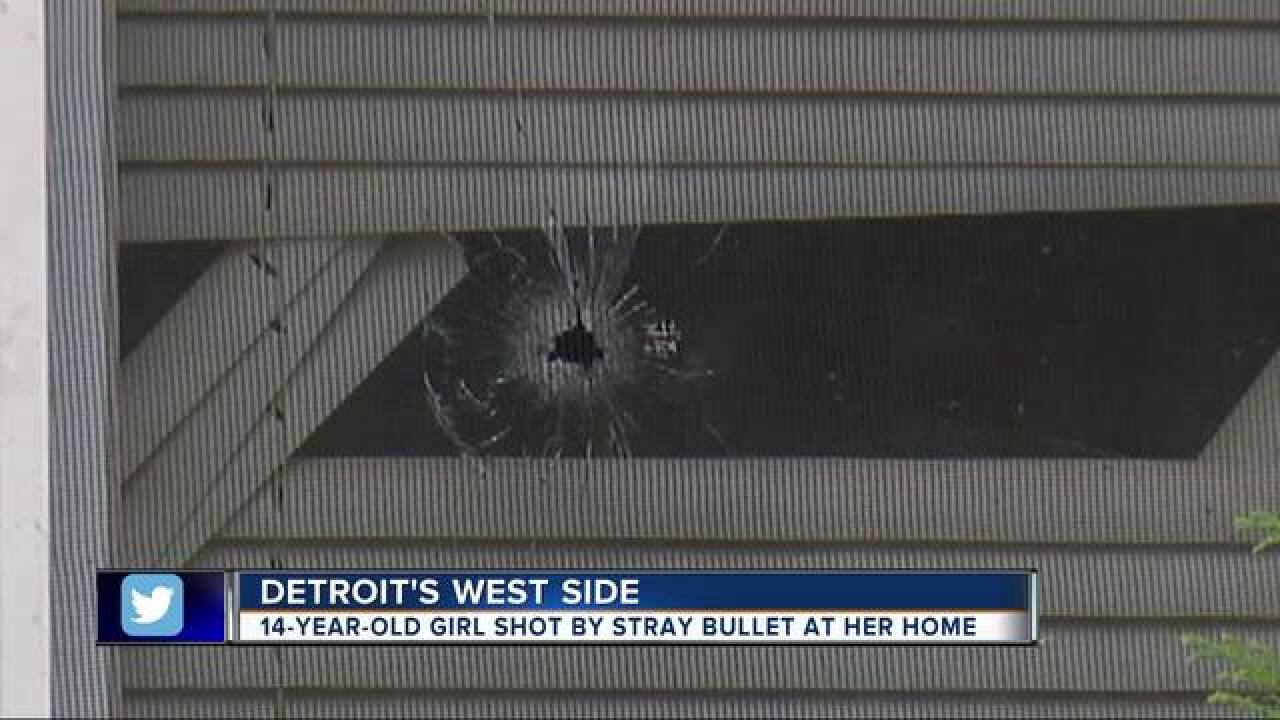 14 y.o. girl struck in face by stray bullet