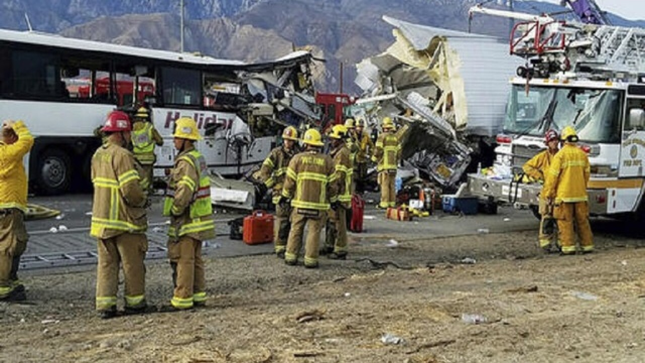 13 dead in tour bus crash in California