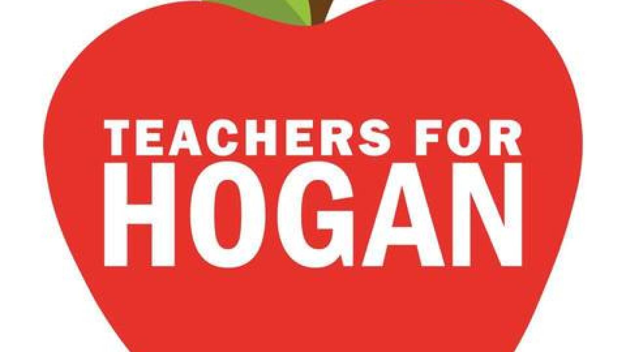 How about these apples? Hogan's campaign responds to teachers union's threat of lawsuit