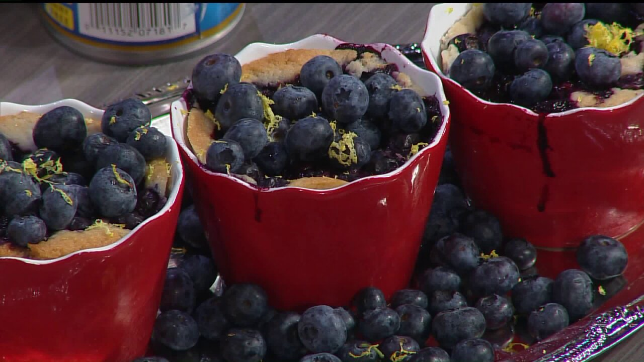 Berry Berry Good Blueberry CornmealCobbler!