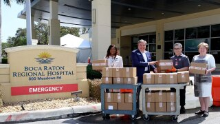 Gift of Life donates swabs for coronavirus testing to Boca Raton Regional Hospital
