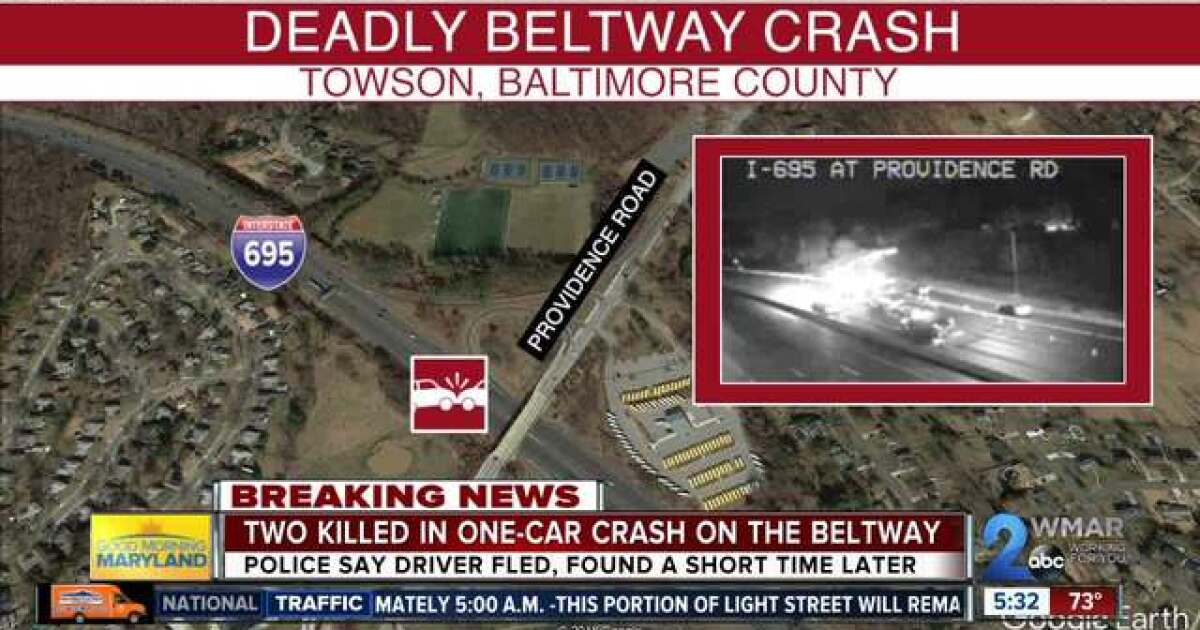 Driver flees after 2 killed in accident on beltway