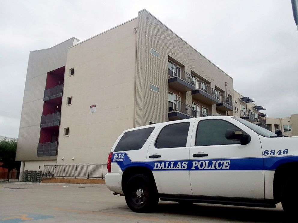 A Dallas Police vehicle is parked near the South Side Flats apartments, Sept. 10 2018, in Dallas (Ryan Tarinelli/AP, FILE).