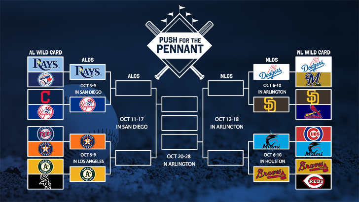 Push for the pennant bracket