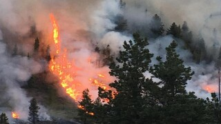 Crews respond to wildfire in Leadville area