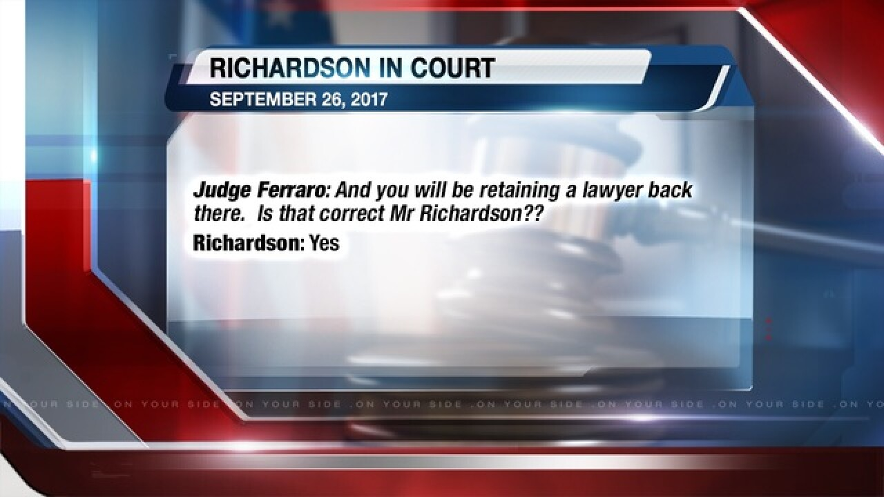 Richardson released on $100K bond