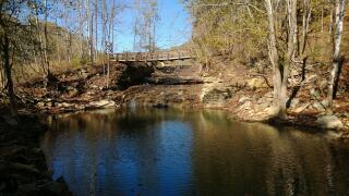 Carter Caves Trail Drawbrigde