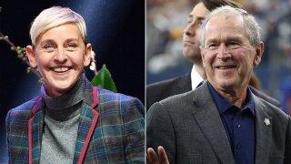 Ellen DeGeneres defends hangout out with friend George W. Bush