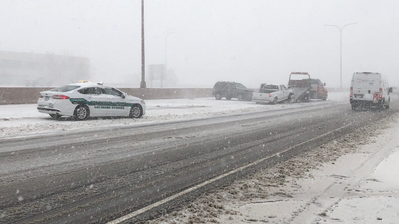 Bomb Cyclone Crash on I-25 at Rockrimmon