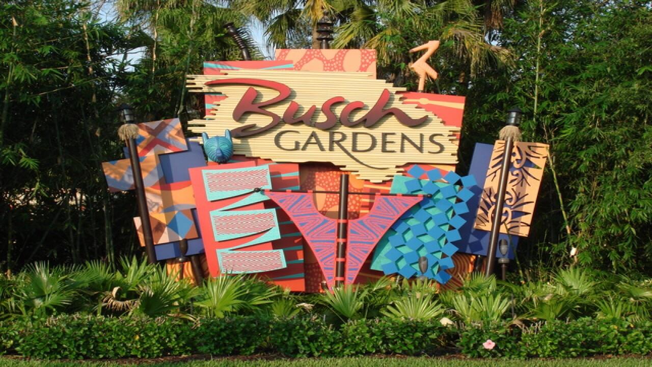 Busch Gardens sign