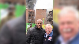 Here we go again: Another photo surfaces of Detroit firefighters posing in front of fire