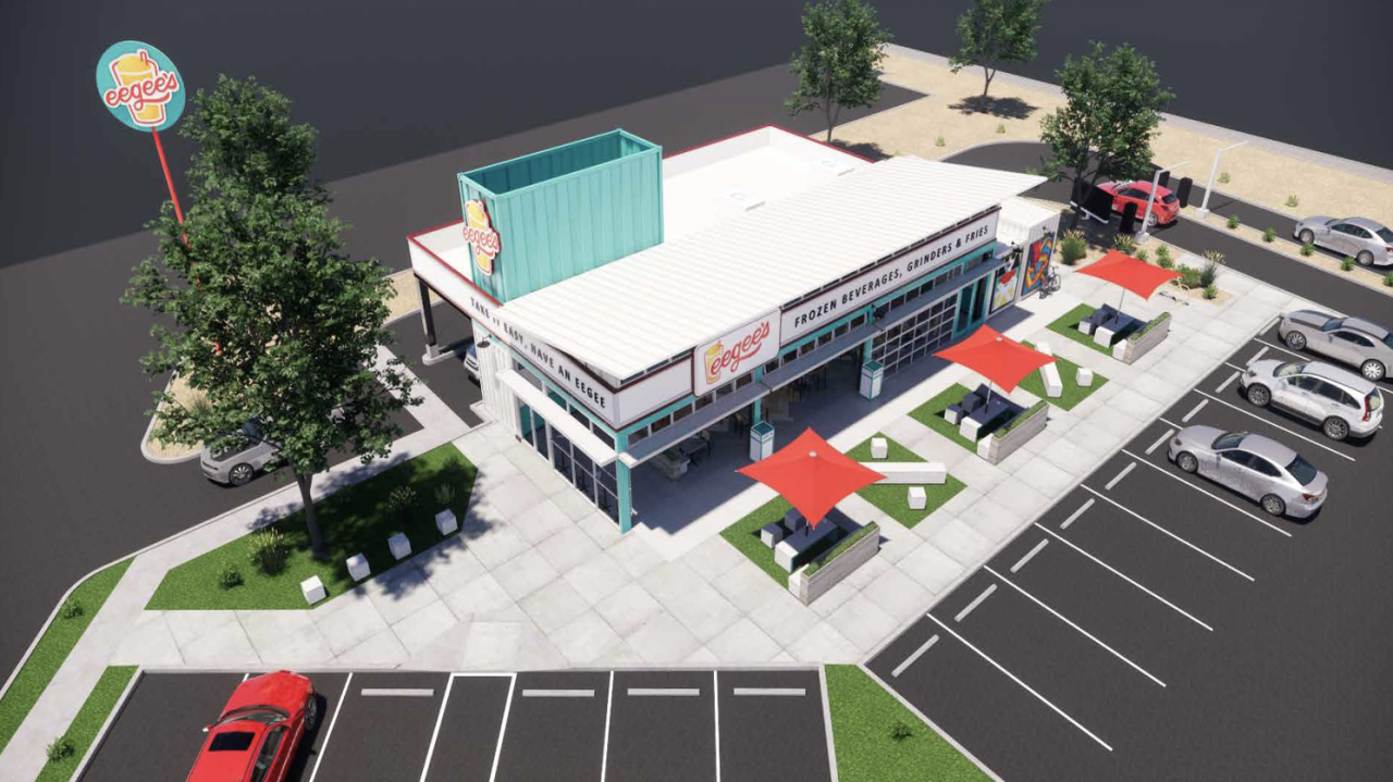 Eegee's rendering of new location at Irvington and I-19 opening in April