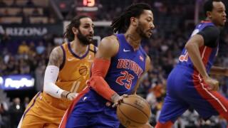 Derrick Rose Pistons Suns Basketball