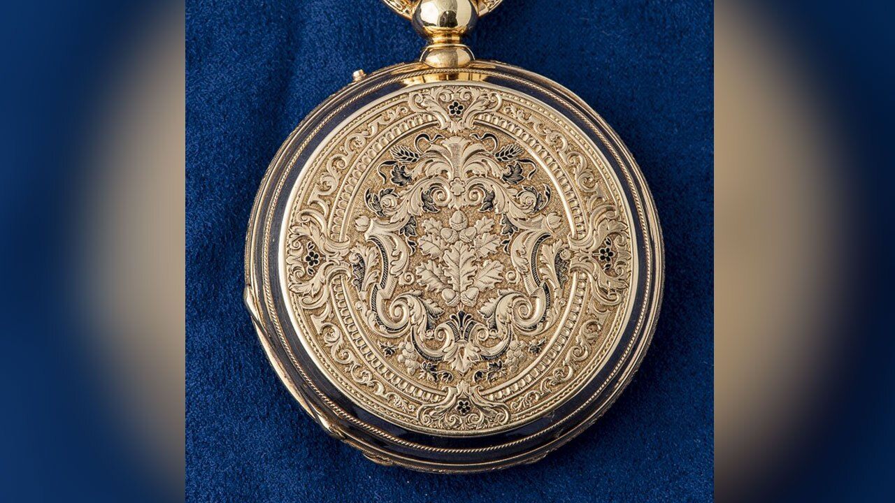 19th-century gold pocket watch up for auction in West Palm Beach on Sept. 25, 2021