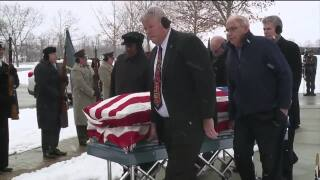 Rex Beach gives father military burial