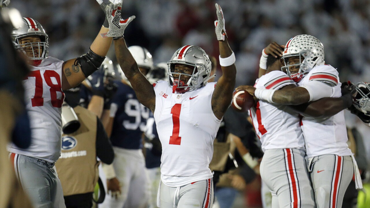 No. 4 Ohio State rallies in 4th quarter to beat No. 9 Penn State, 27-26
