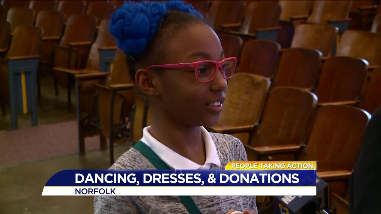People Taking Action: Norfolk 5th grader collects dresses for girls in need