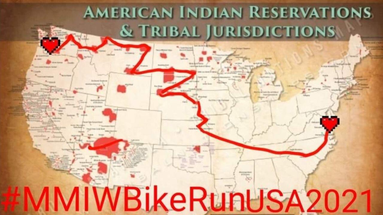 MMIW Bike-Run USA 2021 is crossing Montana