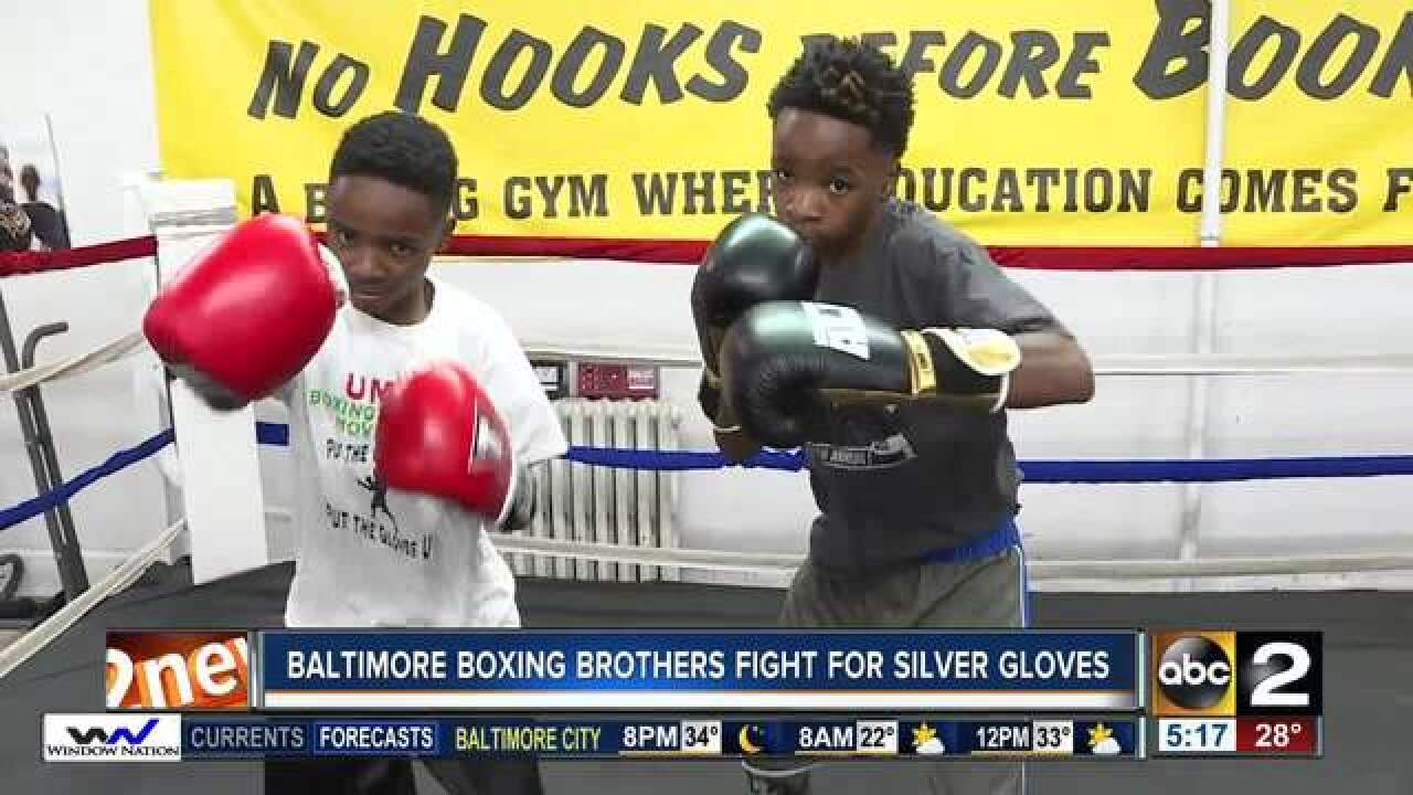 Baltimore boxing brothers fight for Silver Gloves