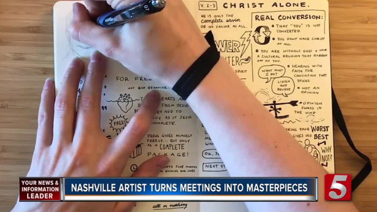 Nashville Sketch Artist Creates Visual Notes, Turns Meetings Into Works Of Art