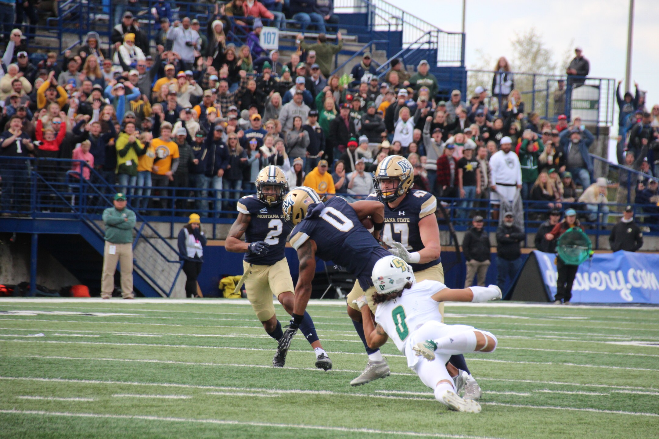 DB Tyrel Thomas returns a fumble in the first half