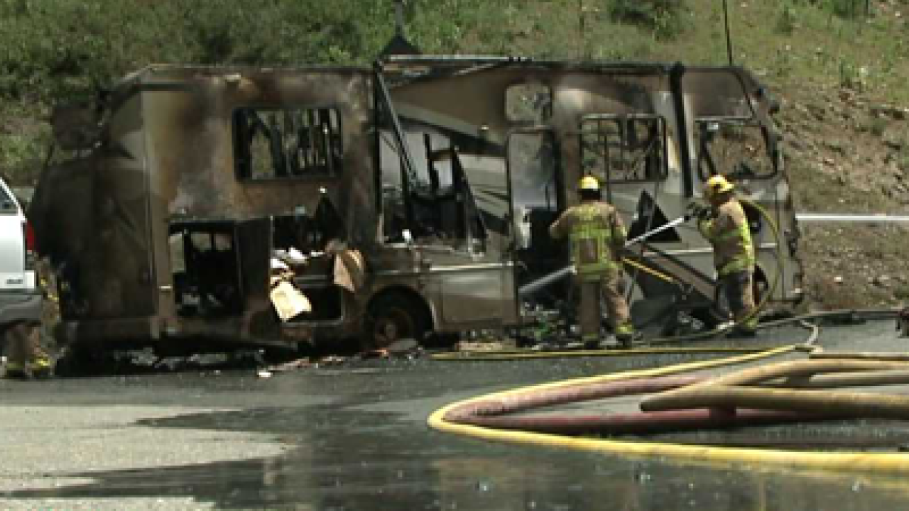 Man burned after RV catches fire at Snowbird