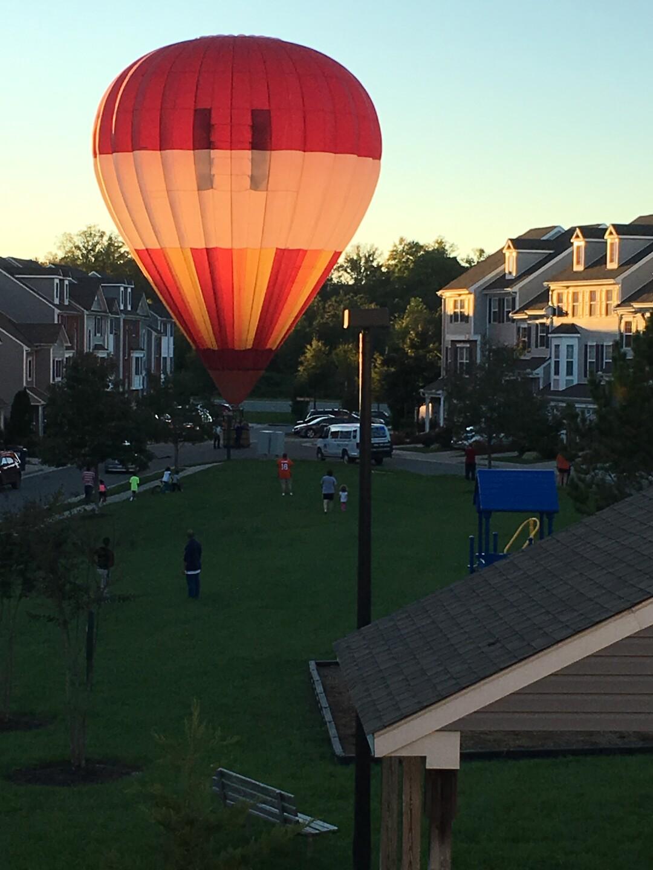 Photos: 'Please don't crash!' Hot-air balloon makes surprise landing inneighborhood
