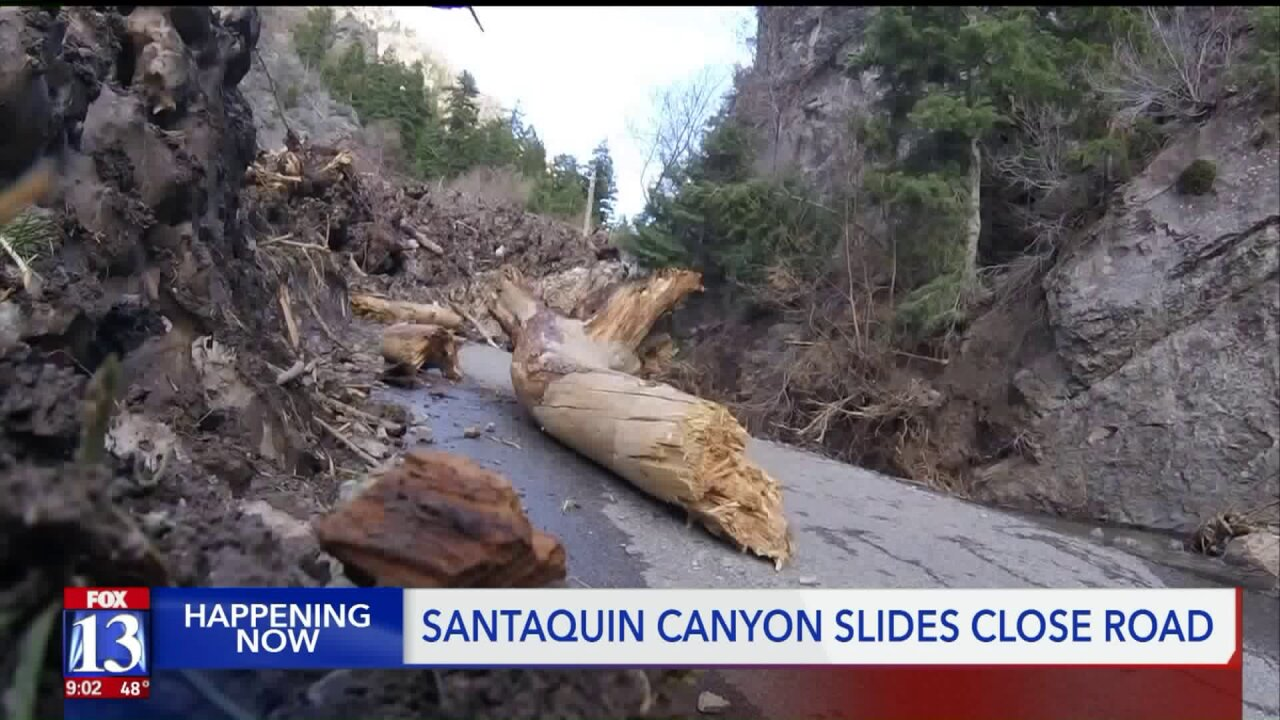 Mudslide in Santaquin Canyon brings down wall of debris, blocks road forhikers