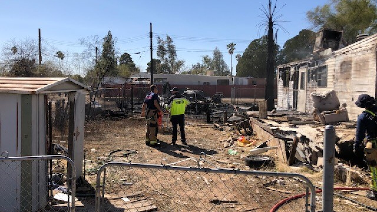 Northwest Fire crews put out a fire in the 1100 block of West Hadley Street Thursday.