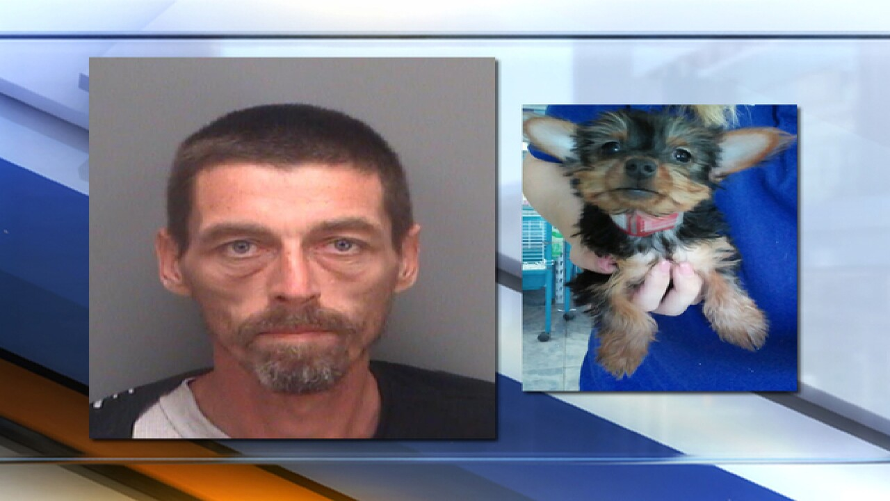 PD: Man stole dog, traded it for crack