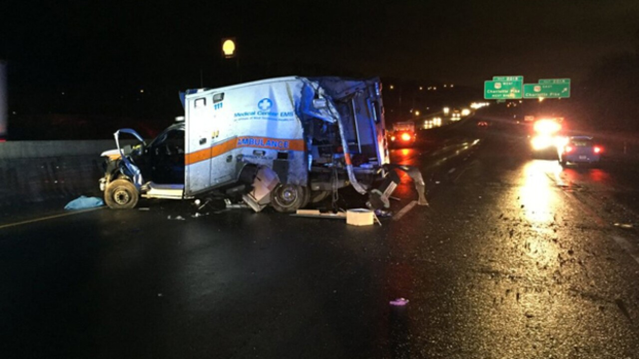 Patient, medic killed when ambulance crashes on I-40 East at Charlotte Pike