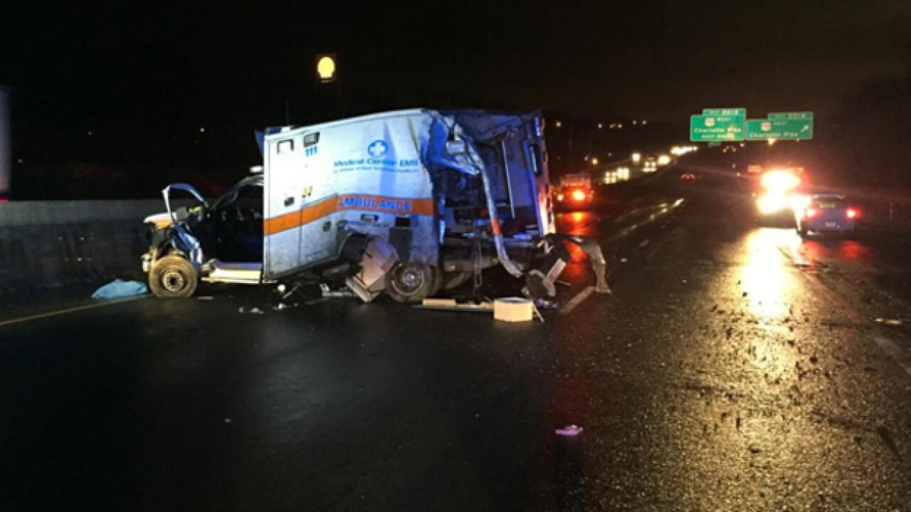 Crash closes I-40 East at Charlotte Pike