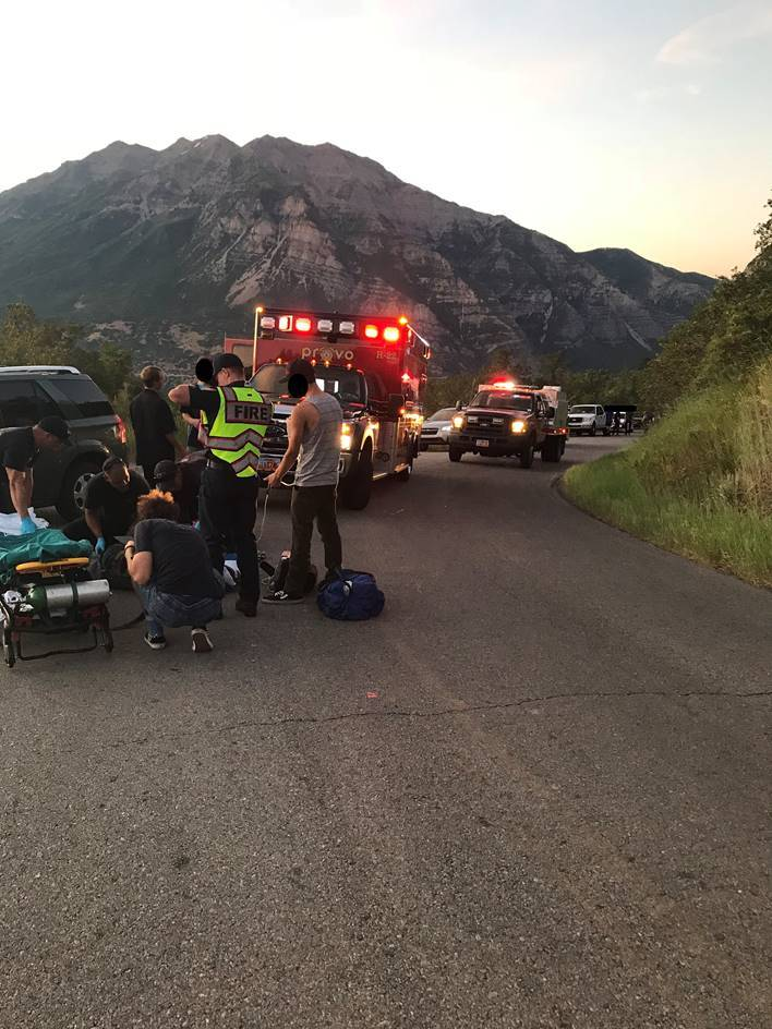 Photos: Skateboarder injured in collision with car in Provo Canyon