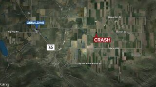 Fatal crash in Chouteau County, October 10, 2021