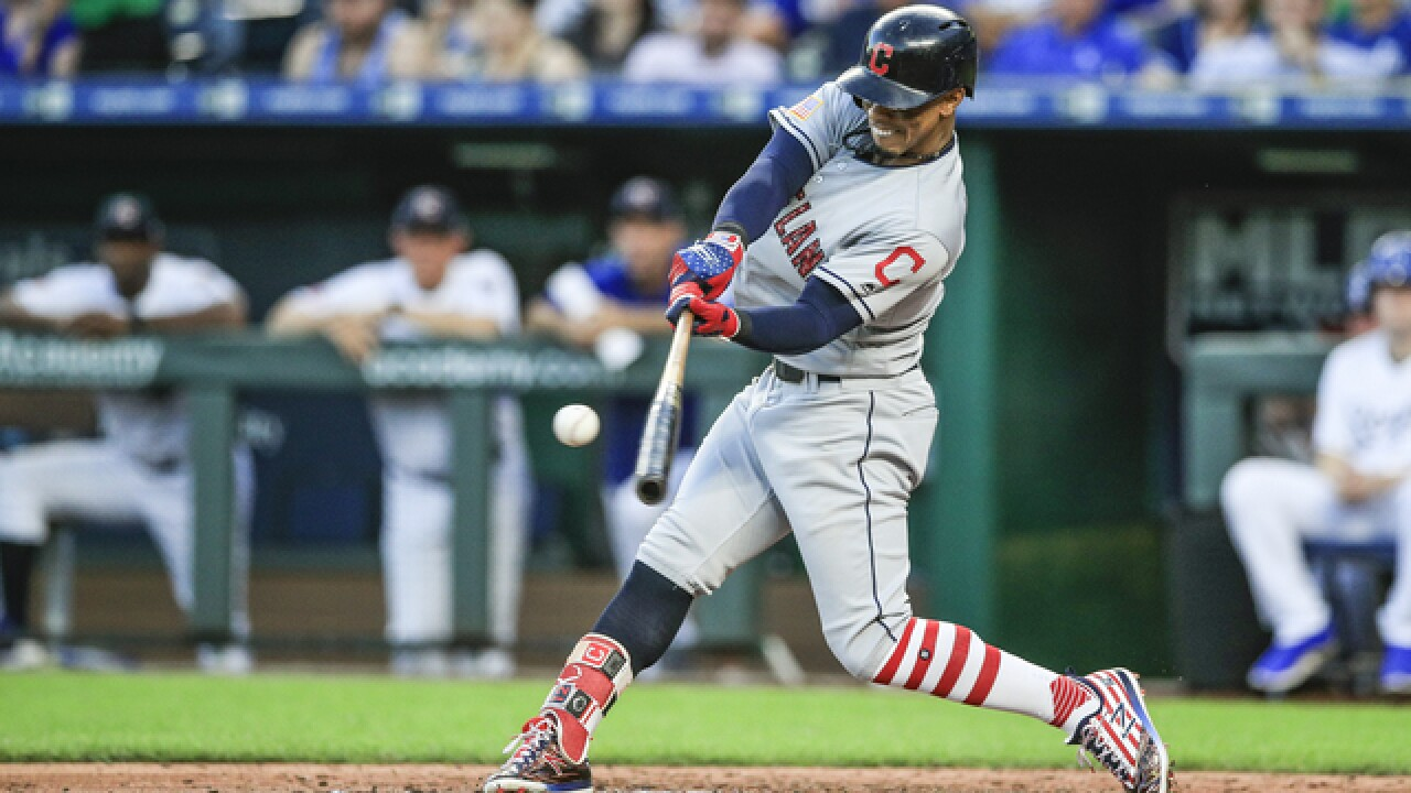 Francisco Lindor drives in seven runs, Cleveland routs KC 9-3