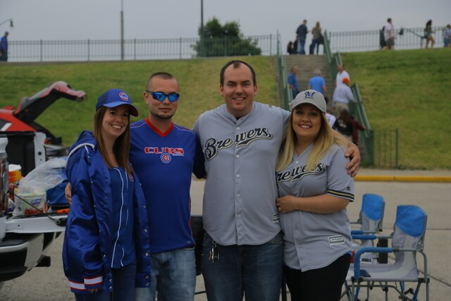 A parking lot divided: Cubs, Brewers fans tailgate ahead of crucial series [PHOTOS]