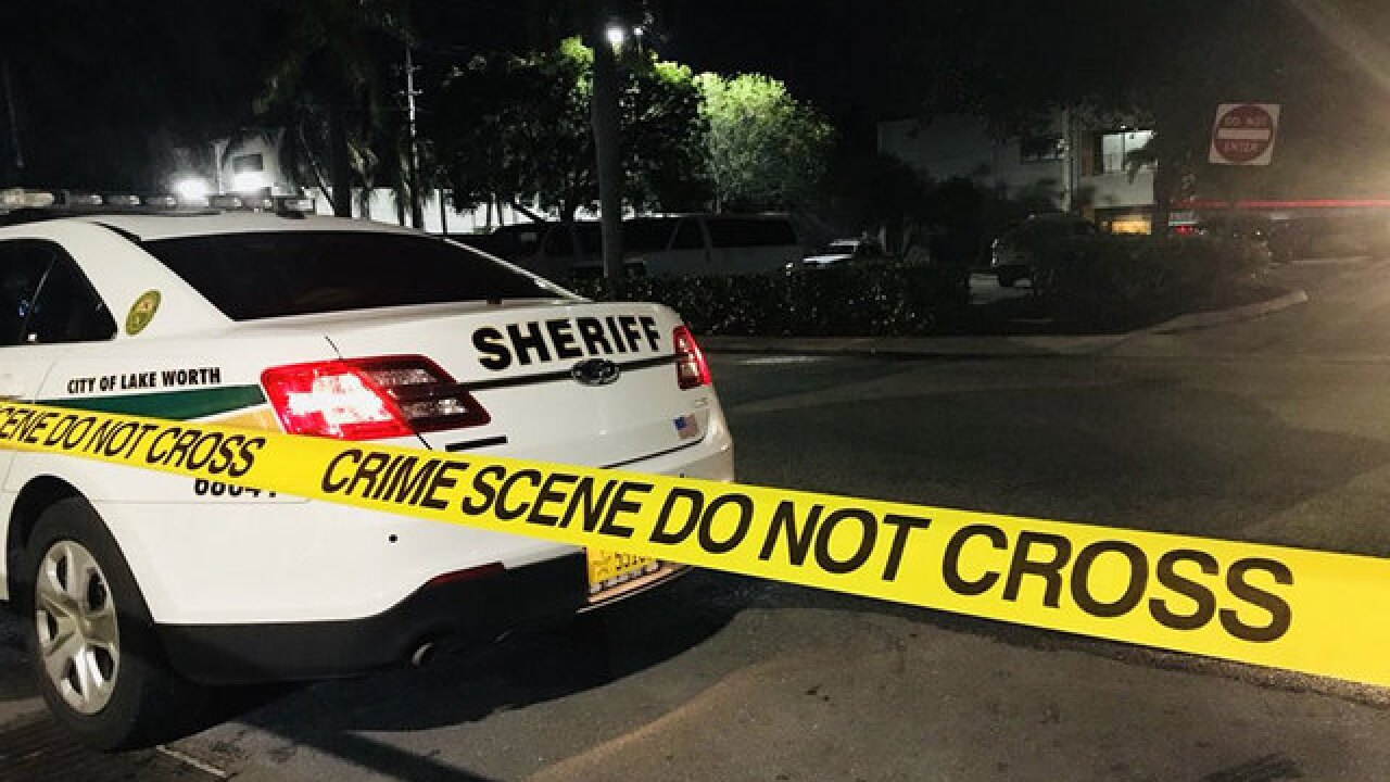Shooting at PBSO District 14 headquarters