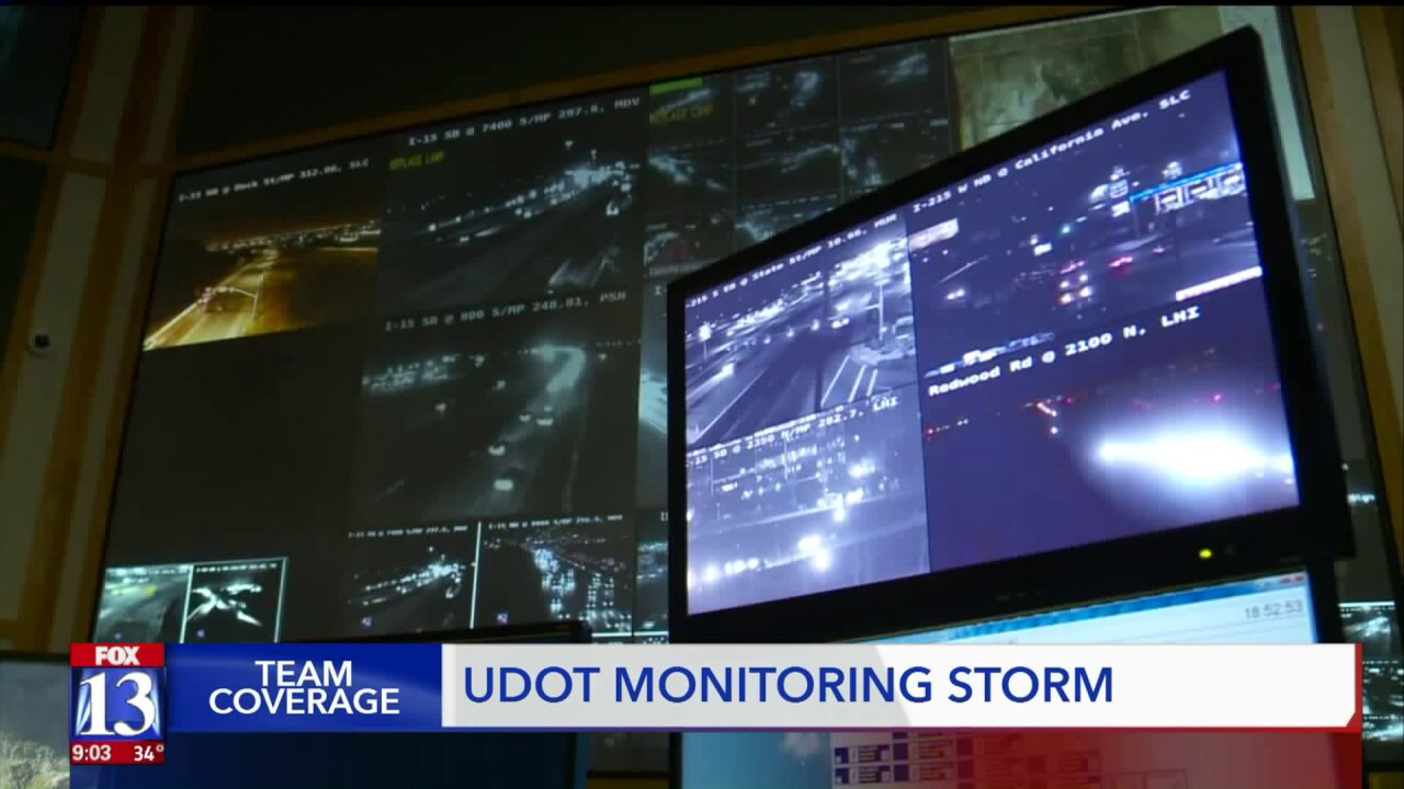UDOT prepares for the holiday as winter storms move toward Utah