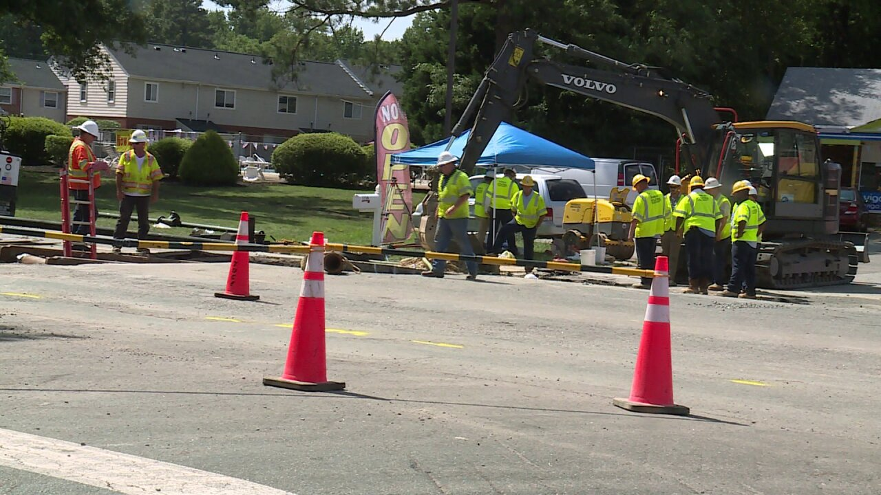 West End apartment complex runs dry after water main breaks inHenrico