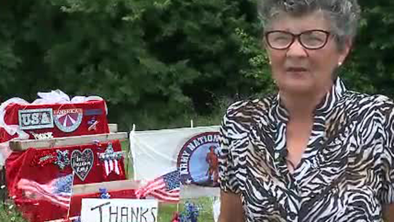 Iowa woman receives ticket for violating city code with tribute to veterans