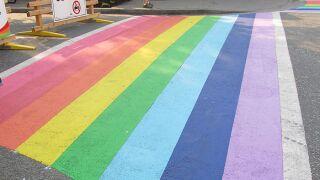 rainbow crosswalk canada