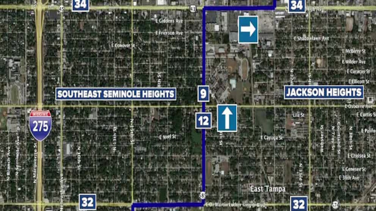 HART changing bus route in Seminole Heights