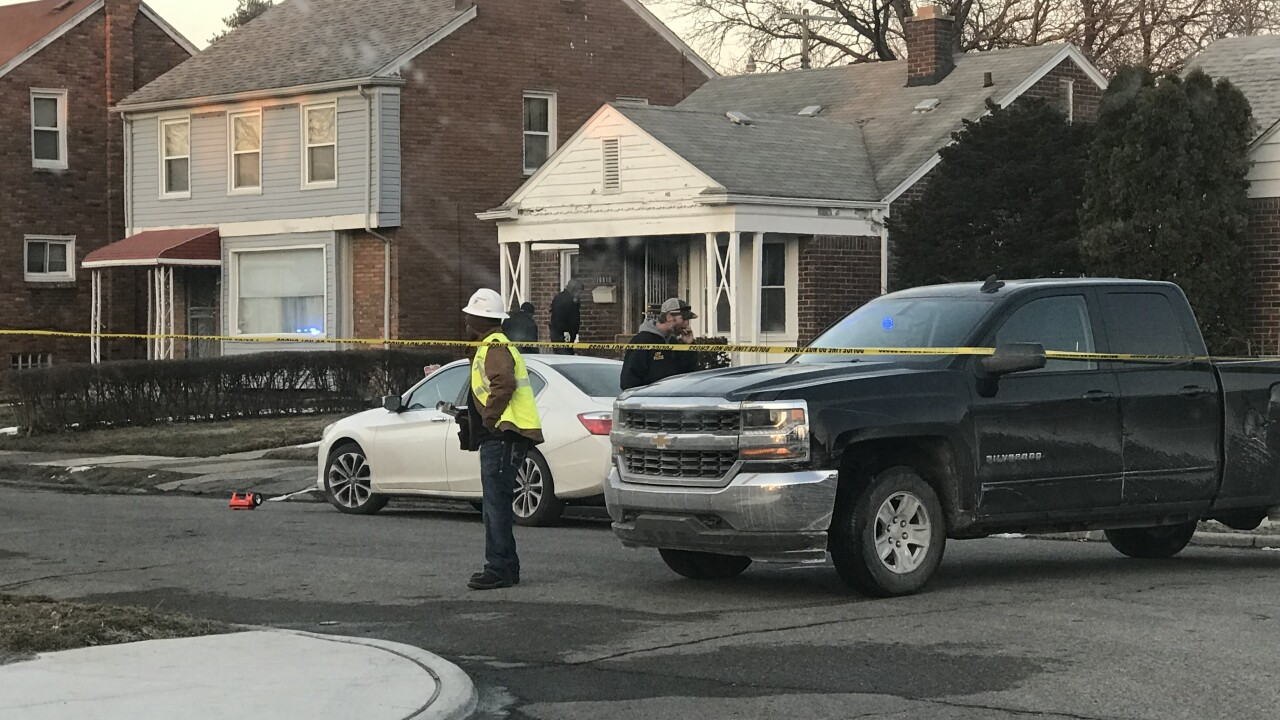 Man catches fire in Detroit