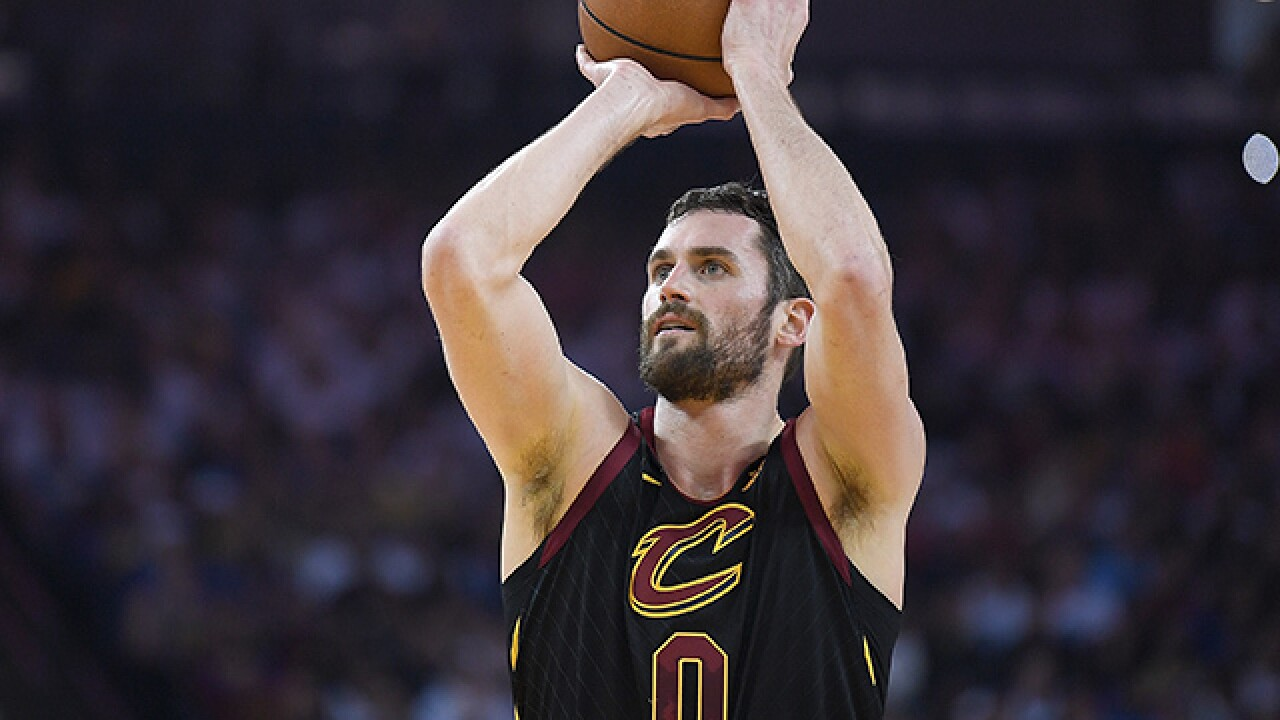 Kevin Love clears concussion protocol, available to play in NBA Finals