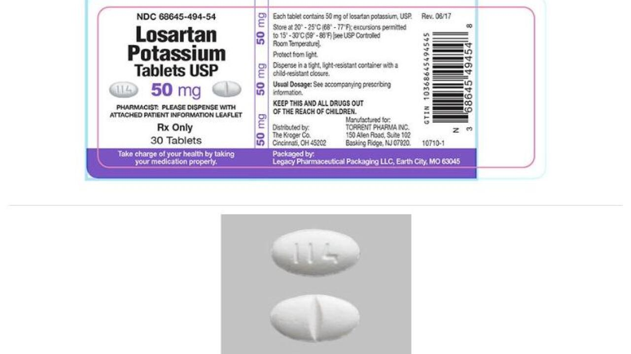 RECALL: Blood pressure medications with trace amounts of carcinogen