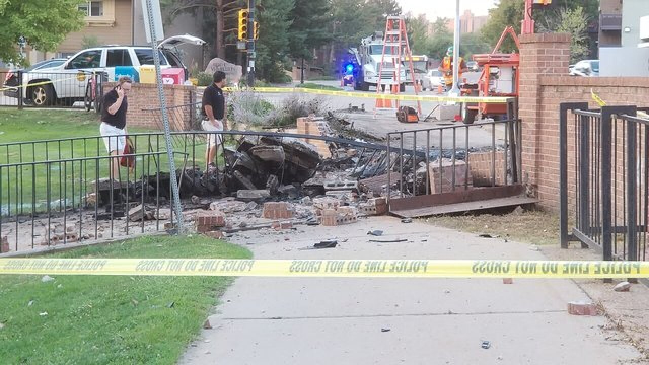 Man dies in fiery one-vehicle crash in Boulder