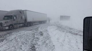 Blizzard conditions shut down I-70 in E. Colo.