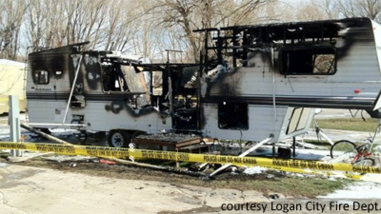 Man arrested for allegedly setting fire to trailer
